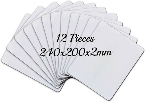 """12 Pcs Blank Sublimation Mouse Pad 9.4""""x7.9"""" for Heat Press Transfer Printing"""