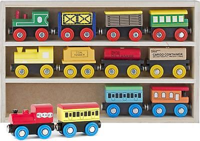 12 pcs Hand Crafted Wooden Train Set Triple Loop Railway Track Kids Toy Play Set