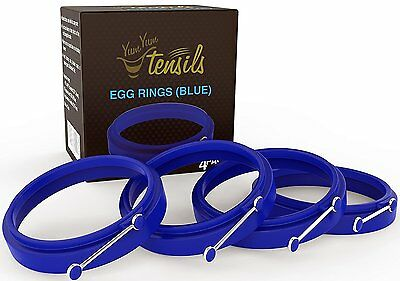 Premium Silicone Egg Cooker Ring / Pancake Rings. Non Stick Round Cooking Mold