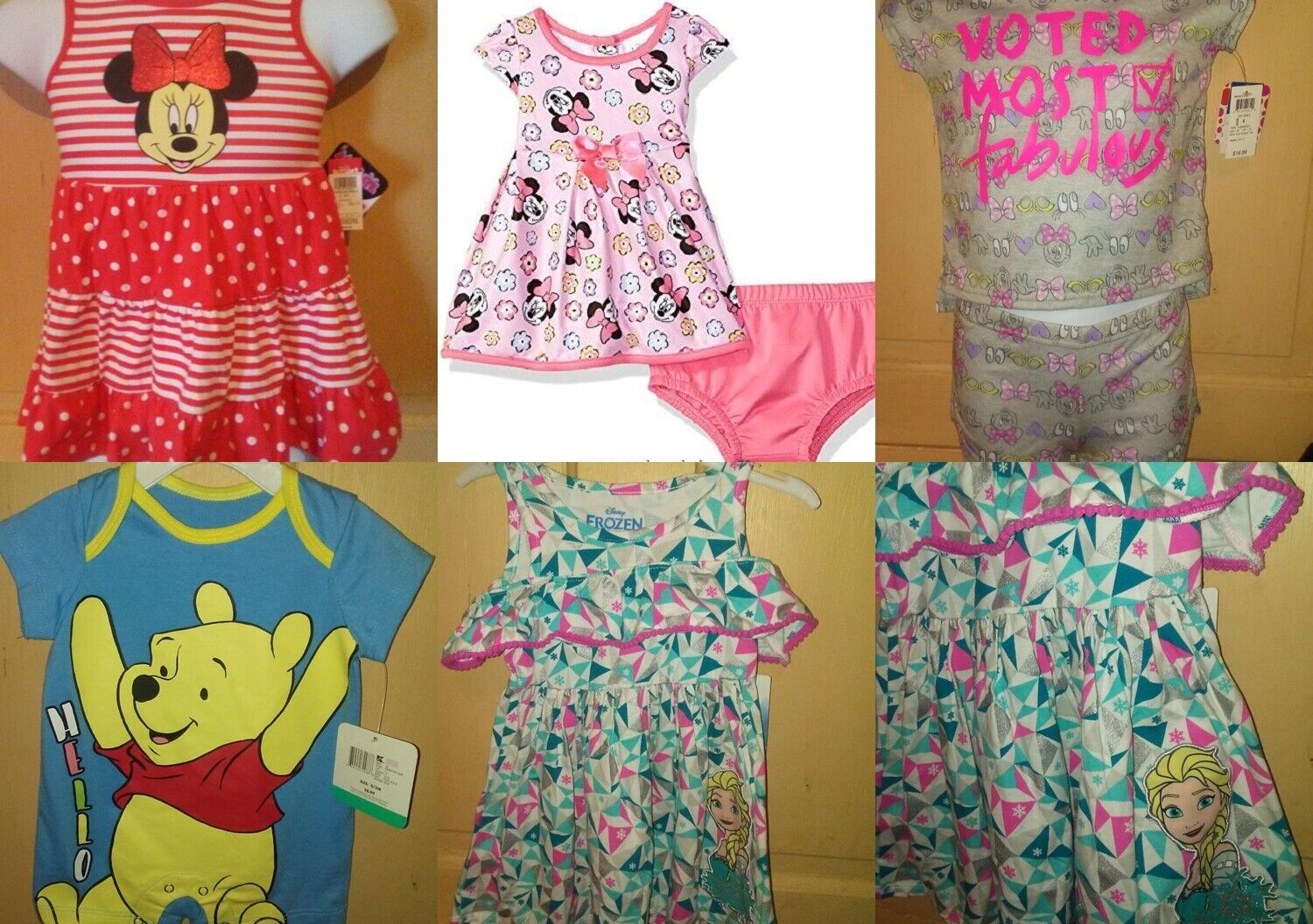 Disney Infant and Toddler outfits or sets.  UPick  sizes 0/3