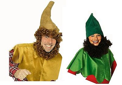 Cape braun grün 1tlg. ohne Mütze für Kostüm Zwerg Märchen Umhang - Grünen Umhang Kostüm
