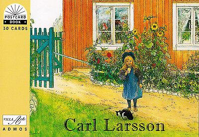 NEU! Kunst Postkartenbuch  Carl Larsson 30 Kunst Postkarten