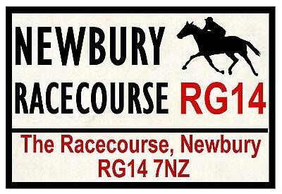 HORSE RACING ROAD SIGNS (NEWBURY) - FUN SOUVENIR NOVELTY FRIDGE MAGNET - GIFTS