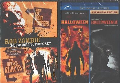 Halloween Rob Zombie 1 (ROB ZOMBIE 4 PACK: House of 1000 Corpses-Devil's Rejects+Halloween 1-2: NEW)