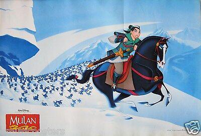 "DISNEY ""MULAN"" ASIAN MOVIE POSTER  - Mulan Riding Horse In The Snow"