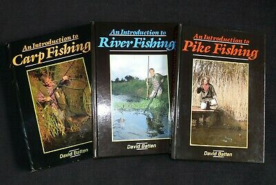 AN INTRODUCTION TO PIKE , CARP AND RIVER FISHING BY DAVID BATTEN , X3 BOOKS