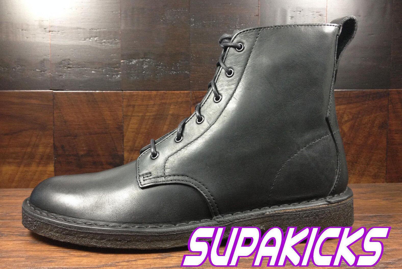 Clarks Originals (26034364) - Desert Mali Boot (Black Leather) Men's 8 - 13