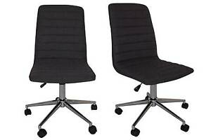 Austin Student Charcoal Fabric Office chair Kingswood Penrith Area Preview