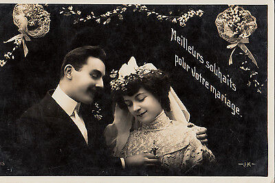 CD72.Vintage Postcard.Best Wishes for your Wedding.Bride and - Best Wishes For Wedding