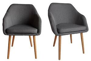 Calvin Grey Fabric Dining Chair Set 2 Kingswood Penrith Area Preview