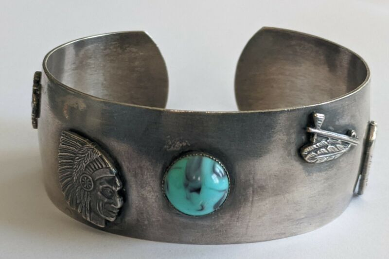 Vintage Southwestern Sterling Cuff Bracelet