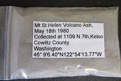 Mt St Helen Volcano Ash- Washington -1980 Eruption Volcanic Ash