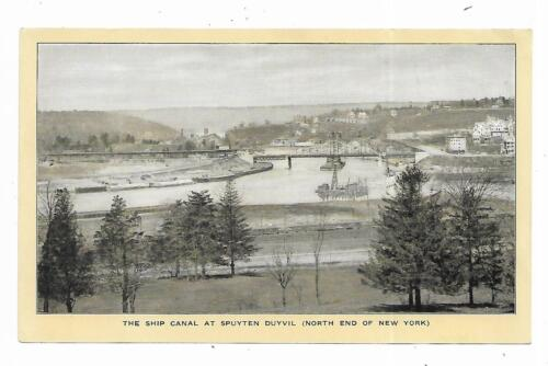 Old Trade Card Singer 66 Sewing Machine Ship Canal At Spuyten Duyvil