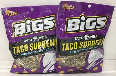 Bigs Taco Bell Taco Supreme Sunflower Seeds 5.35 oz (2 Bags)