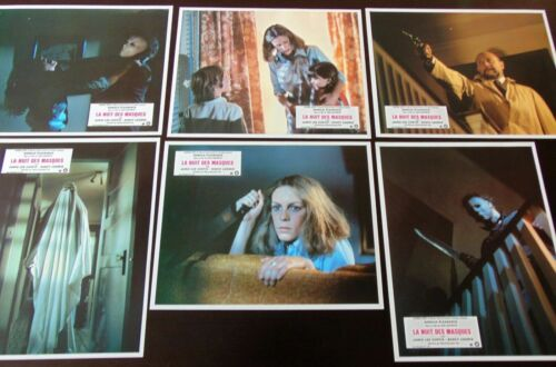 Halloween *12 Original French Lobby Cards 9x11 1978 John Carpenter Michael Myers