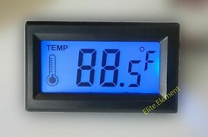 Digital Thermometer Temperature LCD Meter Gauge PC Mod Fahrenheit Centigrade C/F