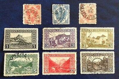 Bosnia & Herzegovina - A Selection Of Early Stamps 1879-1906