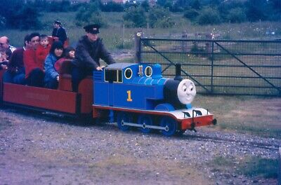 ORIGINAL STEAM RAILWAY TRAIN COLOUR SLIDE,THOMAS THE TANK ENGINE EASTLEIGH LAKES