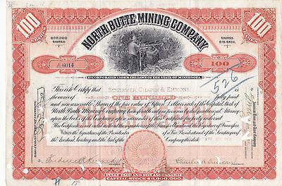 North Butte Mining Co. 1906 orange