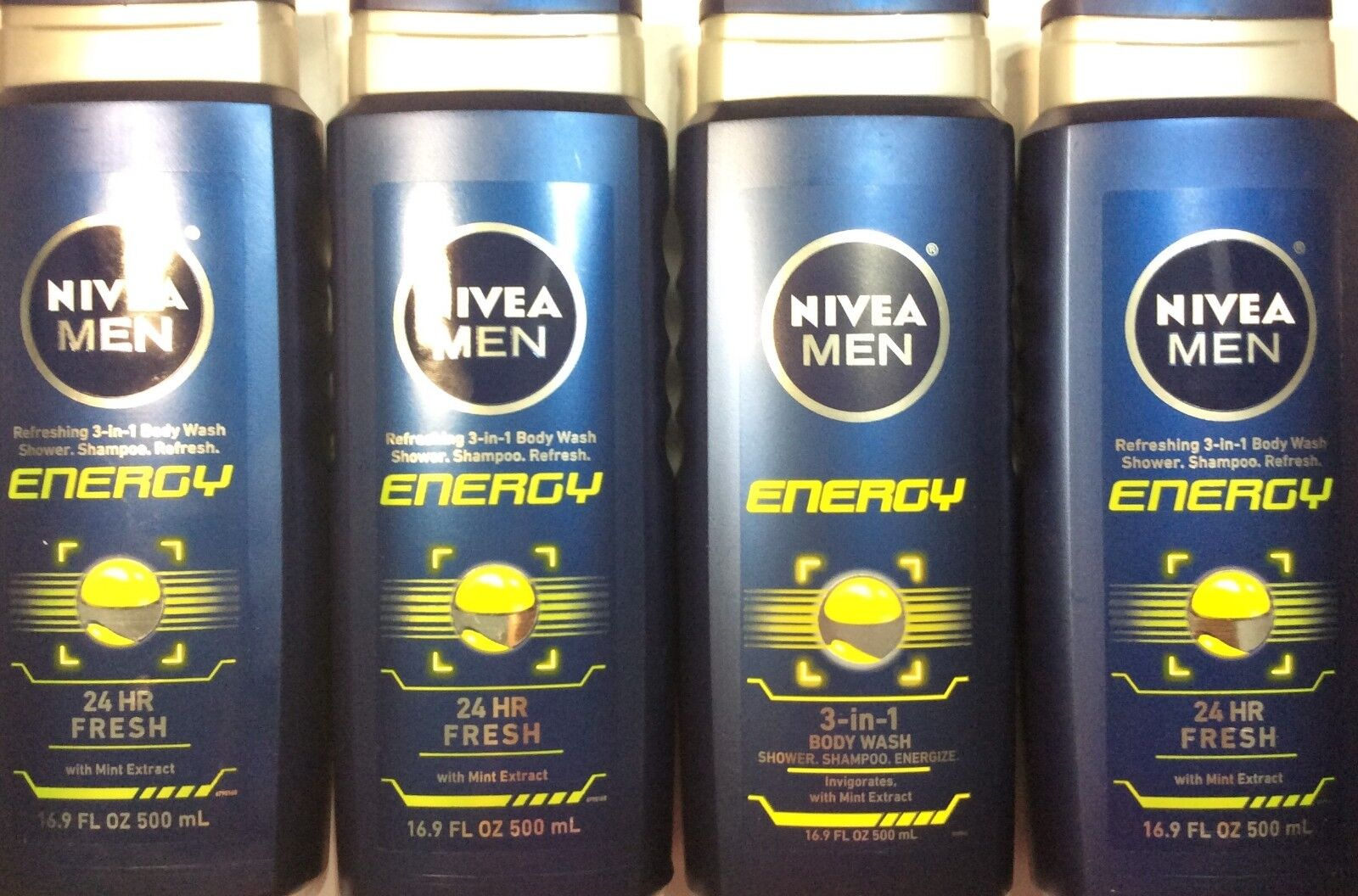 NIVEA Men® Energy 3-in-1 Body Wash 16.9 fl. oz.
