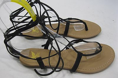 NEW LADIES Summer Black  Shoes LACE UP  Sexy Gladiator Sandals WOMEN Size  8 Ladies Black Sandals
