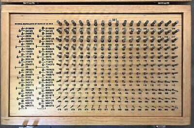 Meyer Gage Makers For The World M-1 180 Pcs W Case .061-.250 Complete Nice