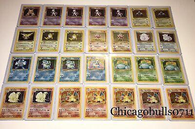 Vintage Pokemon Cards 10 Card LOT 1st Edition/Base set +Holo Rare