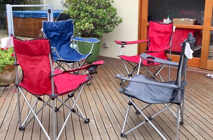 4 Folding arm chairs - great for camping
