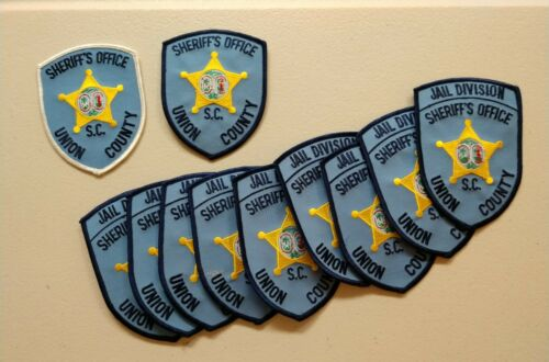 Trader lot of 11 Union County, South Carolina sheriff patches - postpaid