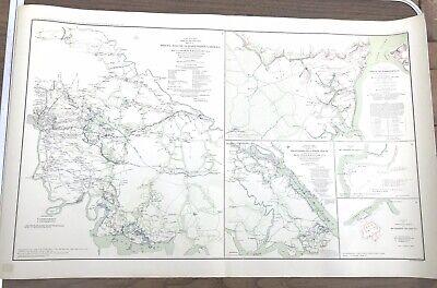 CONFEDERATE STATES 1862 MO MAP West Plains Wildwood Civil War history MISSOURI