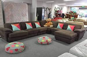 TODAY DELIVERY LUXURY RARE HUGE U modular corner sofa set lounge Belmont Belmont Area Preview