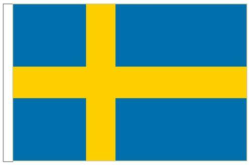 Sweden Sleeved Courtesy Flag ideal for Boats 45cm x 30cm