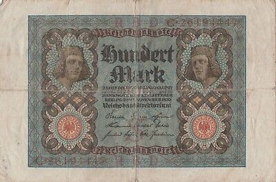 Reichsbanknote Hundert Mark Reichsbankdirektorium Berlin 1920