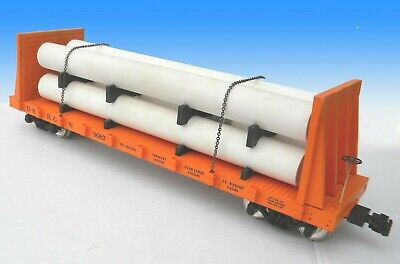 USA Trains G Scale R17601  DRGW Pipe Load Flat Cars 101