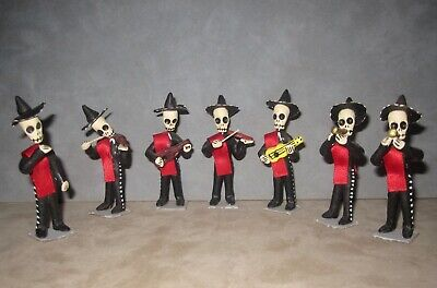 Folk Art Day Of The Dead Mariachi Band, 7 Piece Band, 3