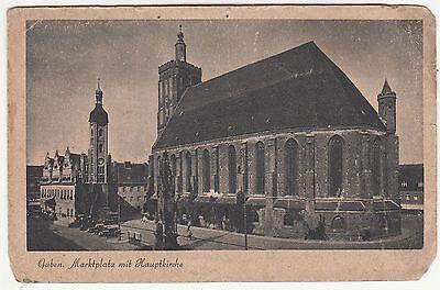 Ak Guben Marktplatz mit Hauptkirche um 1940 !