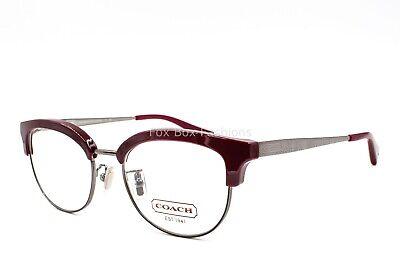 Coach HC 5040 9137 Eyeglasses Frame Glasses Dark Silver & Red (Dark Eye Glasses)