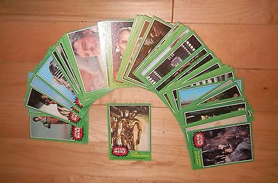 1977 Topps Star Wars 4th Series 4 Complete 66 Green Trading Card Set NM-