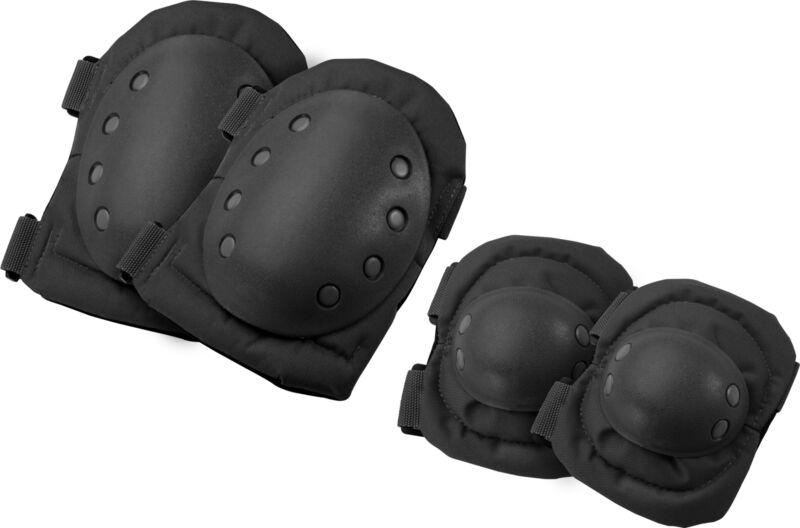 Barska Loaded Gear CX-400 Black Tactical Protective Elbow and Knee Pads, BI12250