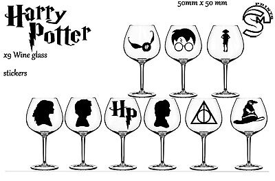 harry potter wine glass, party Vinyl Decal sticker stickers wall decal
