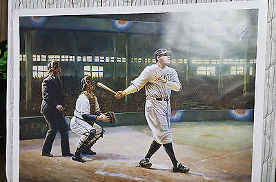 Large Babe Ruth Poster By Gregory Perillo 1997 Size 34 X 27   New