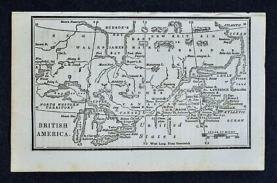 1830 Nathan Hale Map - British America - Canada Great Lakes Quebec Nova Scotia