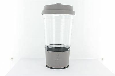 Solo Tea - One Touch Tea Mug Automatic Infusion Cup BPA Free - Gray Cloud