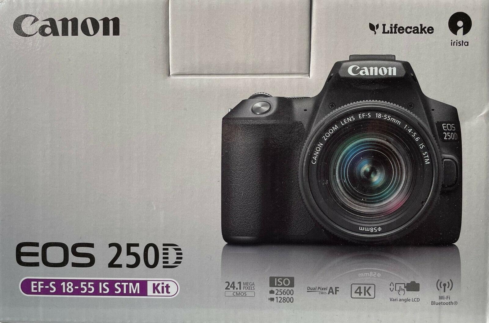 Canon EOS 250D Kit 18-55mm Objektiv IS STM Spiegelreflexkamera 24.1MP 4K Full HD