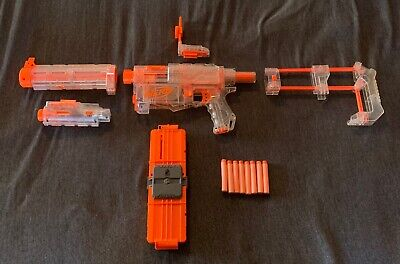Hasbro NERF CLEAR Recon CS-6 Dart Toy Gun Blaster w/ Attachments - -