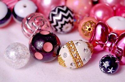 Fancy Bubblegum Bead Princess Mix , with Indonesian, Glass Beads BM301