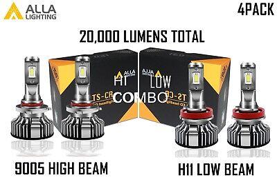 Alla Lighting LED High Low Beam Headlight Bulb Light for MITSUBISHI, Xenon White
