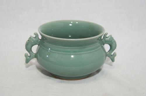 Chinese  Green  Celadon  Porcelain  Incense  Burner