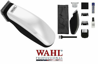 WAHL Cordless SUPER Pocket Pro Trimmer/Clipper & 2 Blades,Guide Combs*HORSE DOG