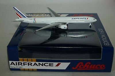 Schuco 3551691 Boeing 777-328ER Air France Olympia 2024 F-GZNP in 1:600 Scale